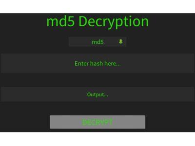 Md5() Encrypt & Decrypt